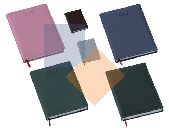 Agenda de couro sintético 20 cm x 15