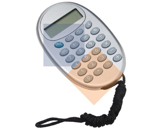Calculadora oval com cordão 8 dígitos