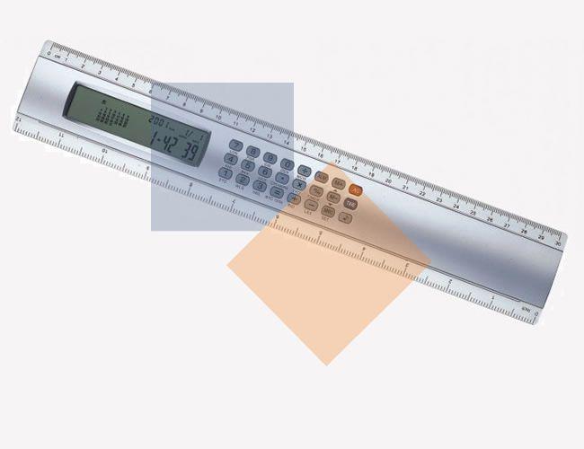 Régua calculadora de 30cm com calendário