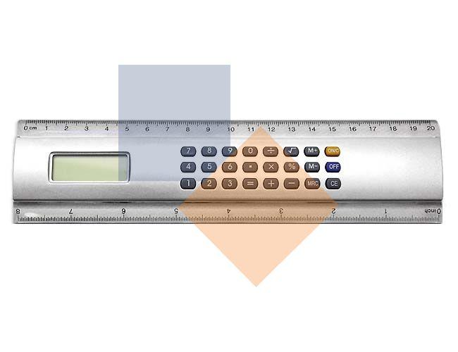 Régua calculadora de 20 cm