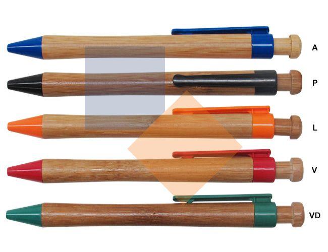 Caneta feita de bambu