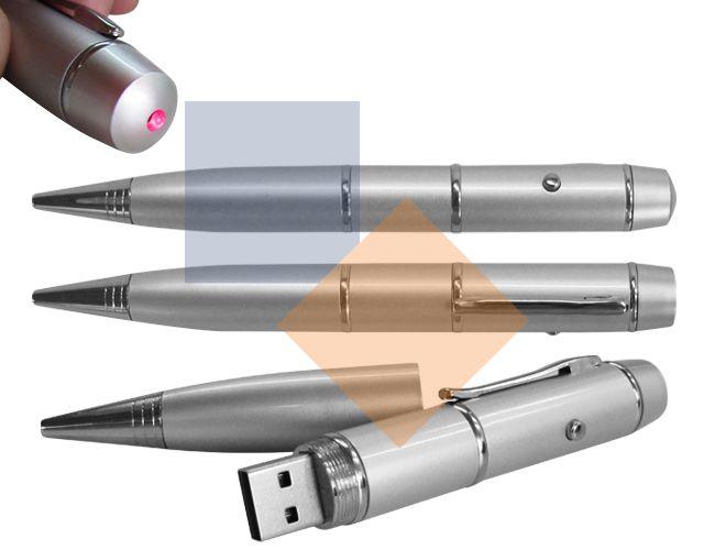 Caneta pen drive com laser