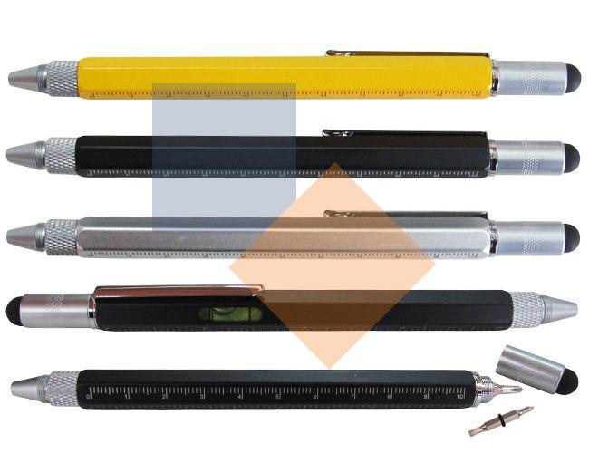 Caneta de metal com ferramentas