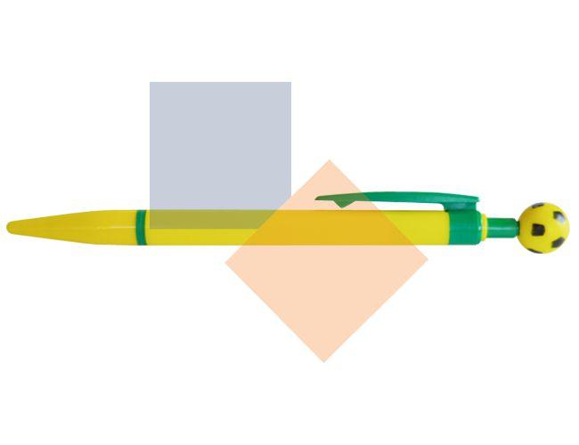 Caneta plástica corpo amarelo