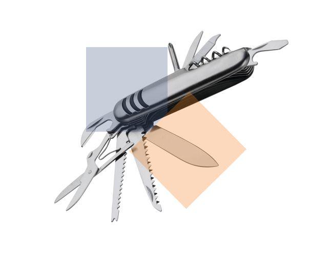 Mini canivete em metal 11 funções