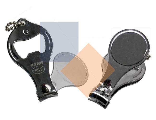 Chaveiro cortador de unha em metal