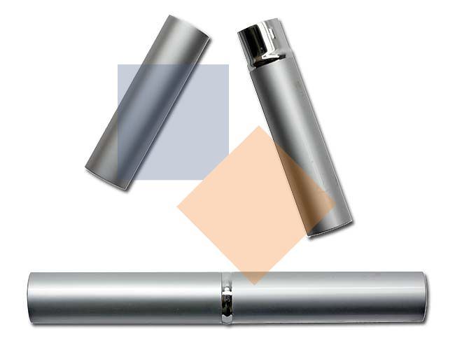 Tubo de alumínio cromado