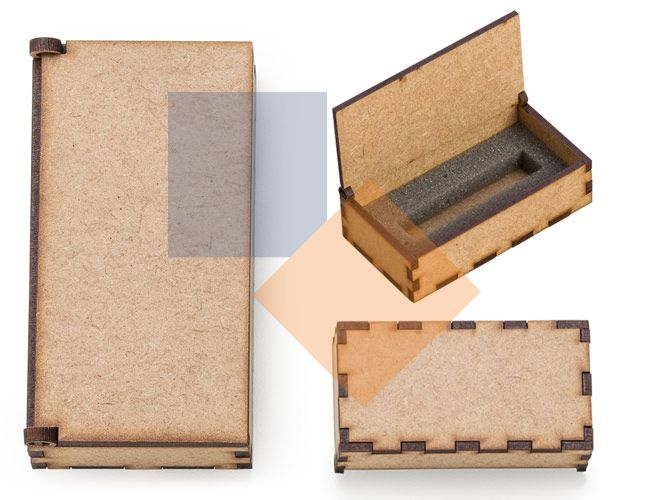 Embalagem para pen drive em MDF