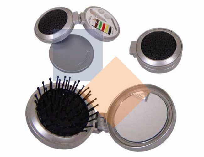 Espelho com escova e kit costura