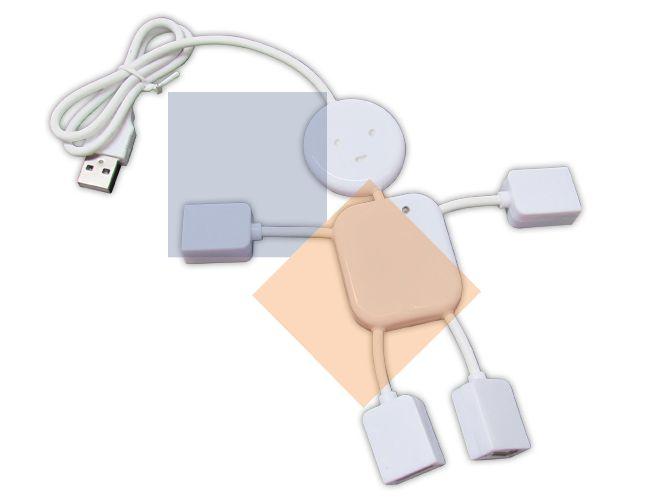 Hub USB no formato de boneco