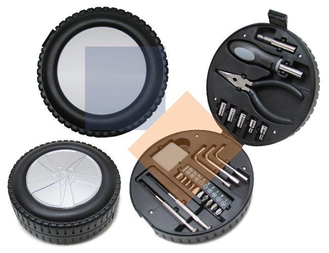 Kit ferramenta Forma de Roda 24 peças