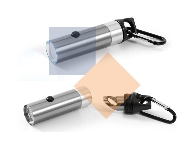 Lanterna com abridor e mosquetão