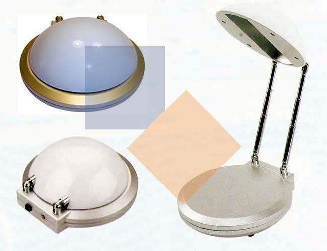Luminária em box oval