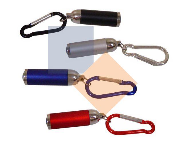Chaveiro mini lanterna com mosquetão