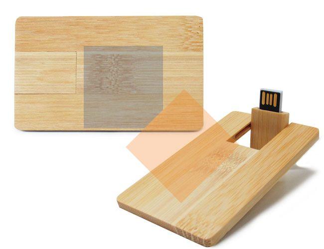 Pen card de bambu