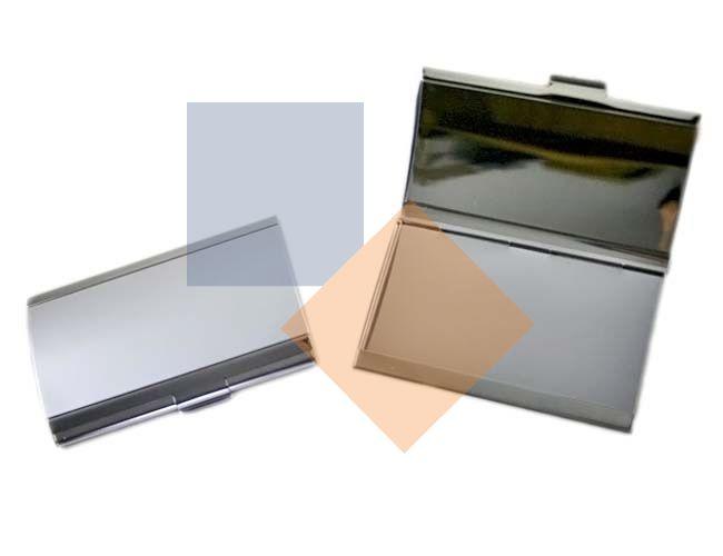 Porta cartão de alumínio Cromado