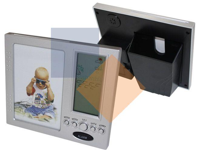 Porta Retrato em plástico cromado