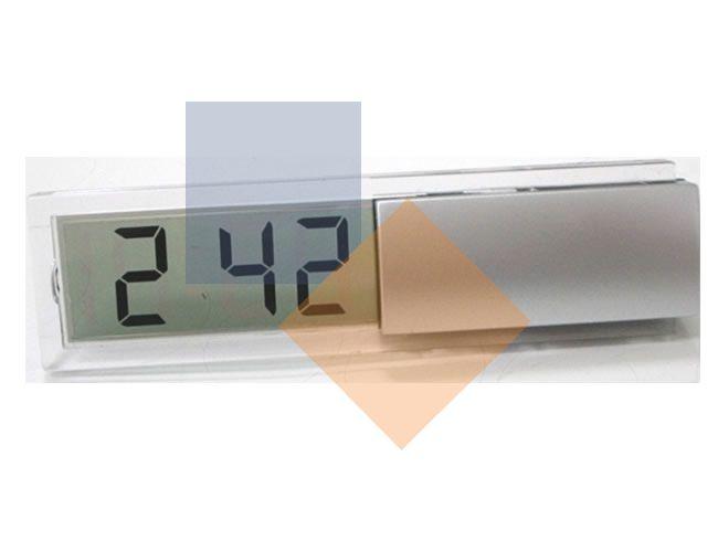 Relógio de mesa em plástico