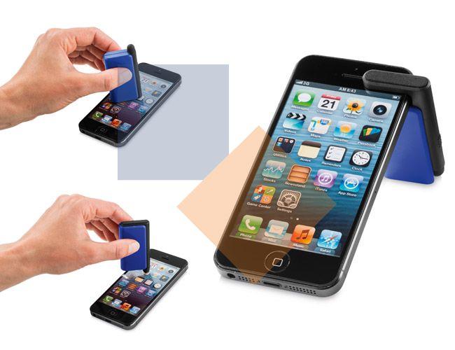 Suporte de celular com touch e limpador