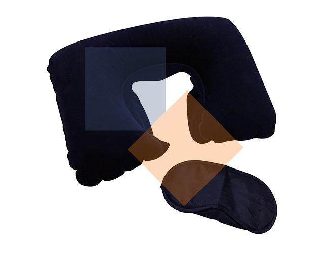 Travesseiro de pescoço com máscara de dormir